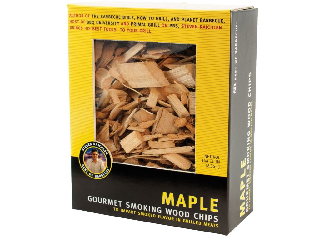 Dřevěné lupínky k zauzování v grilu - javor