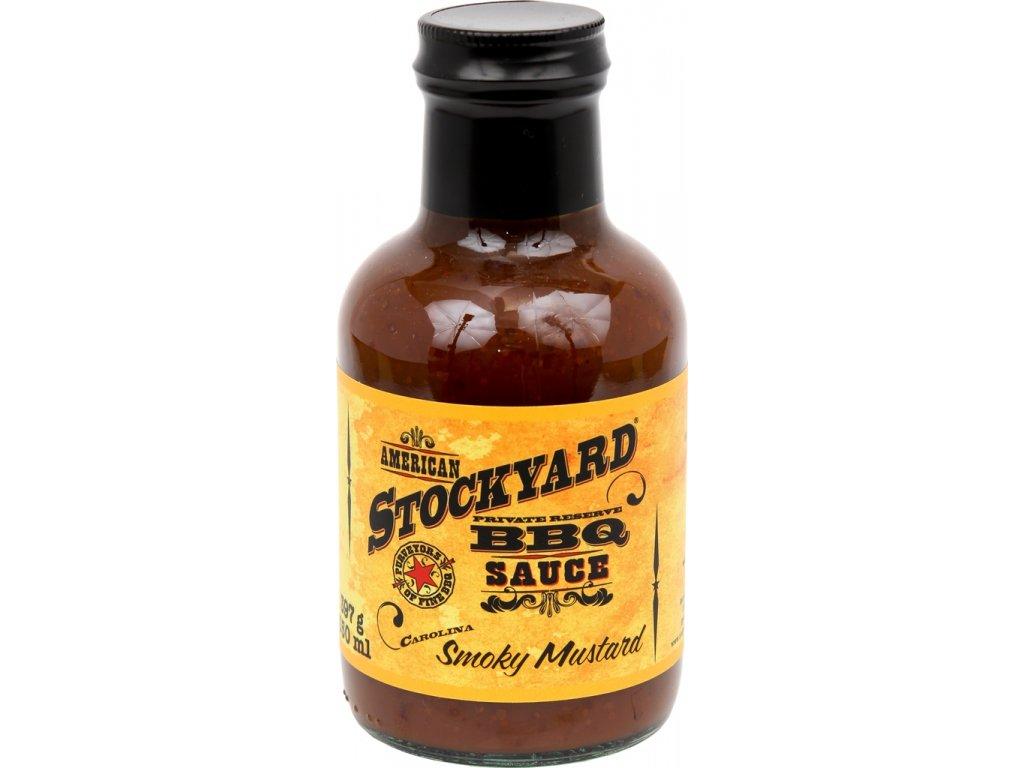 BBQ omáčka Stockyard Smoky Mustard, 350 ml