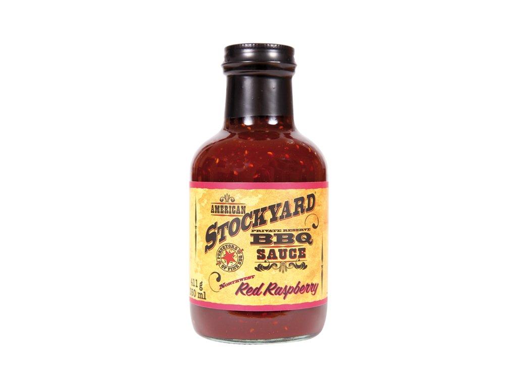 BBQ omáčka Stockyard Red Raspberry, 350 ml