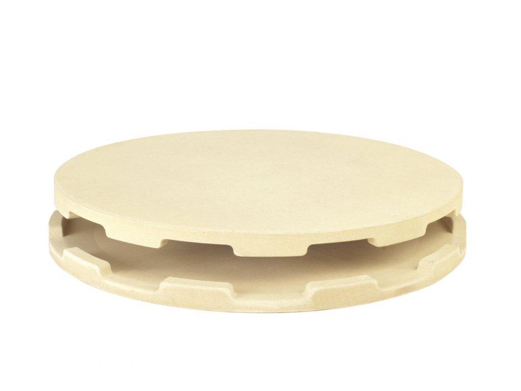 Dvojitý pizza kámen 36 cm