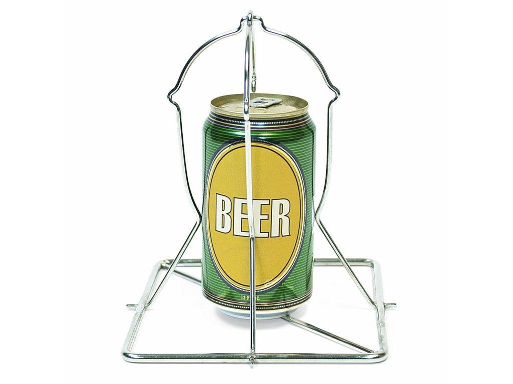 Stojan na kuře na plechovce piva BGE