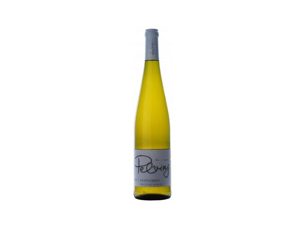 Víno Pelvins Chardonnay - pozdní sběr 2016