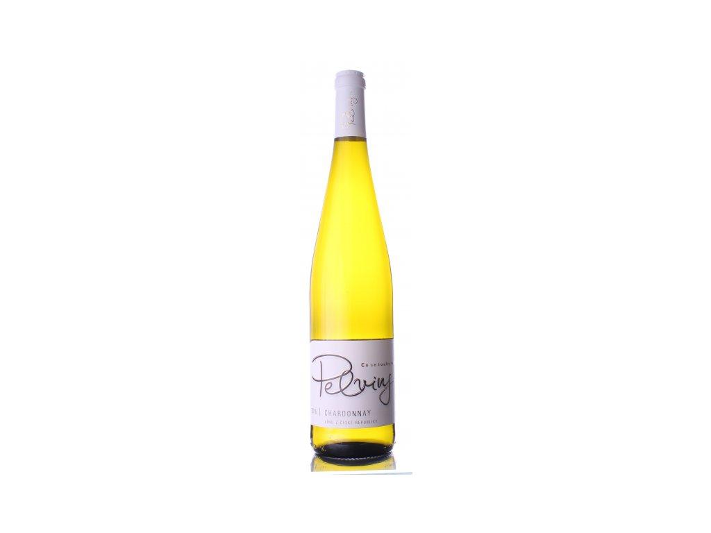 Víno Pelvins Chardonnay - pozdní sběr 2018
