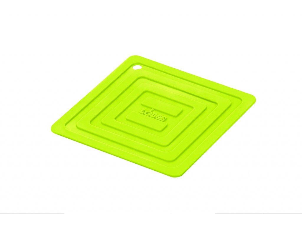 Zelená silikonová podložka pod litinový hrnec/pánev Lodge