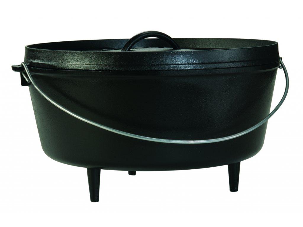 Litinový outdoorový hrnec s poklicí Lodge 9,4l (Camp Dutch oven)