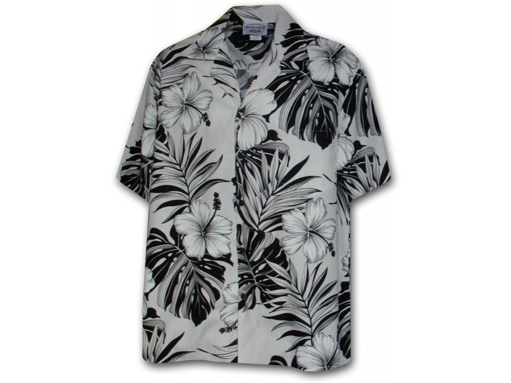 Havajská košile s motivem ibišku L