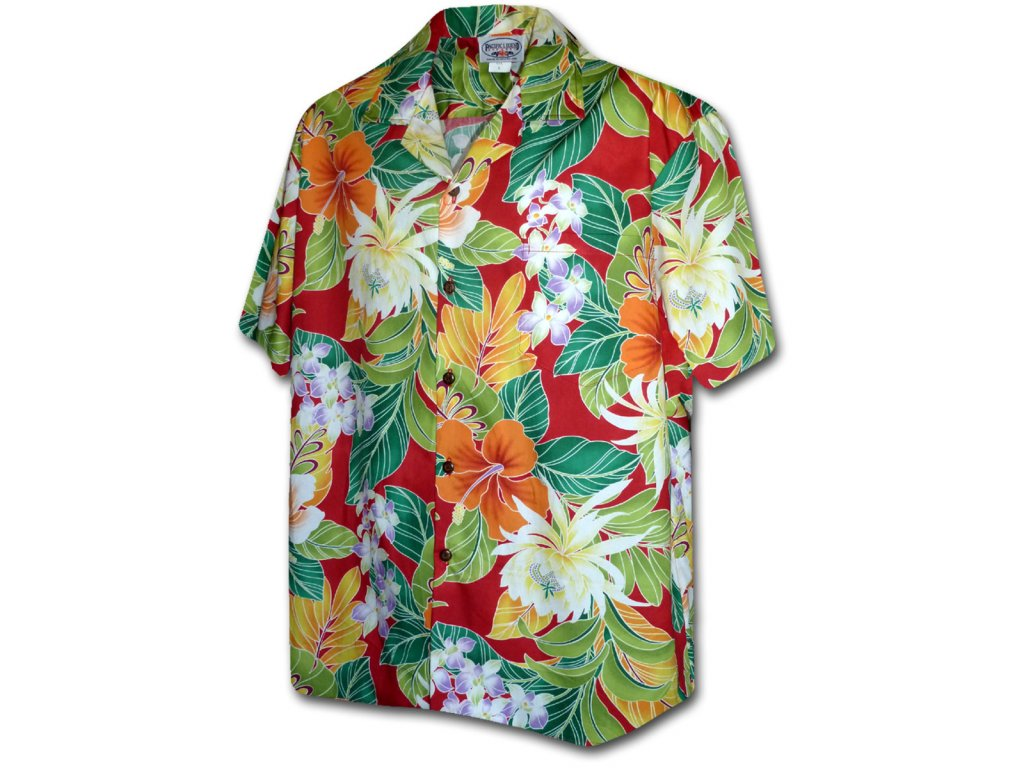 Havajská košile s polynéským motivem XL