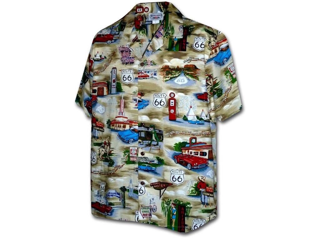 Havajská košile s motivem Route 66 L