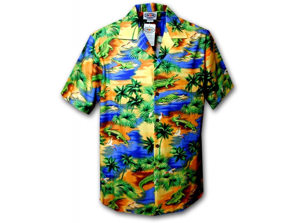 Havajská košile s motivem aligátorů 2XL