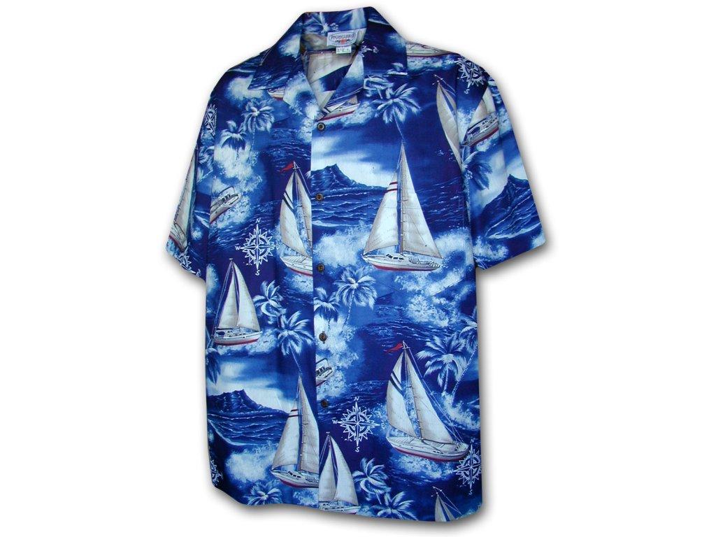 Havajská košile s motivem plachetnic 2XL