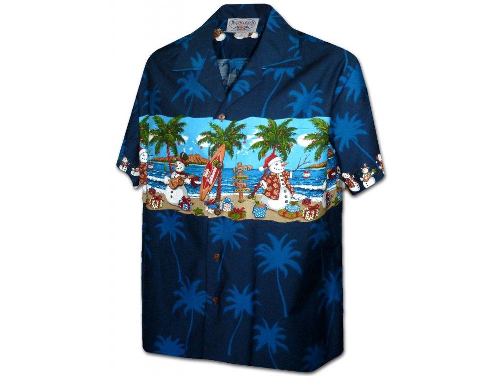 Havajská košile s motivem sněhuláků XL