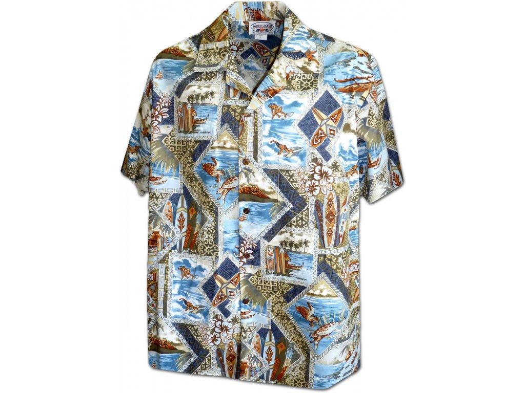 Havajská košile s motivem surfování L