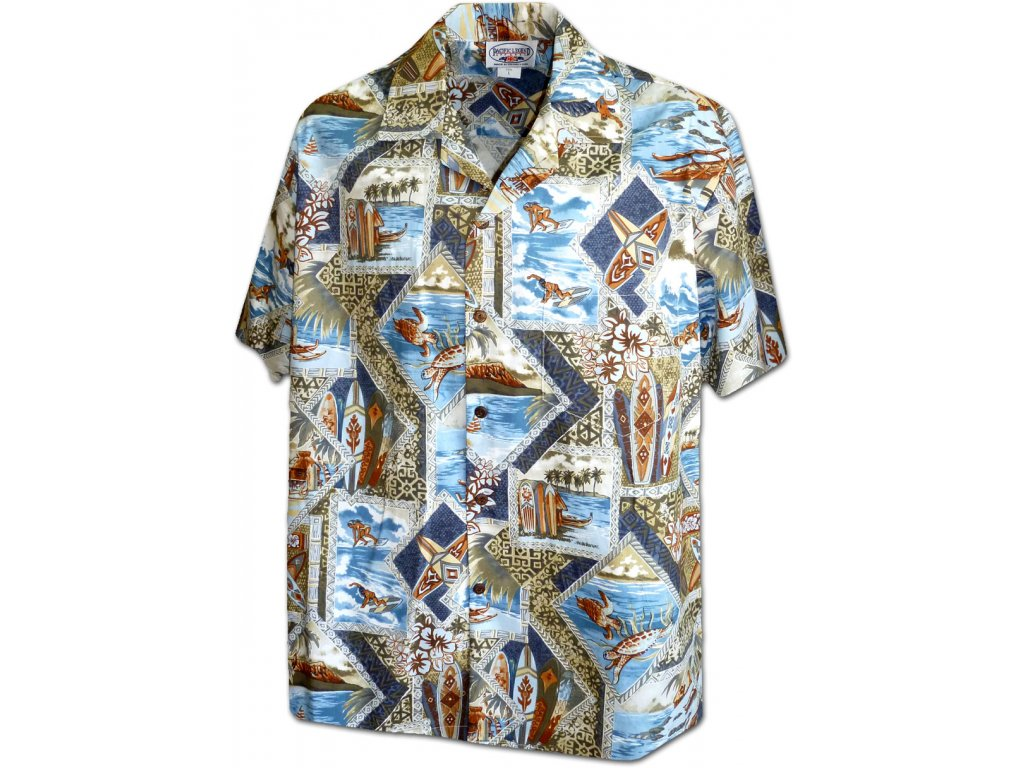 Havajská košile s motivem surfování 2XL