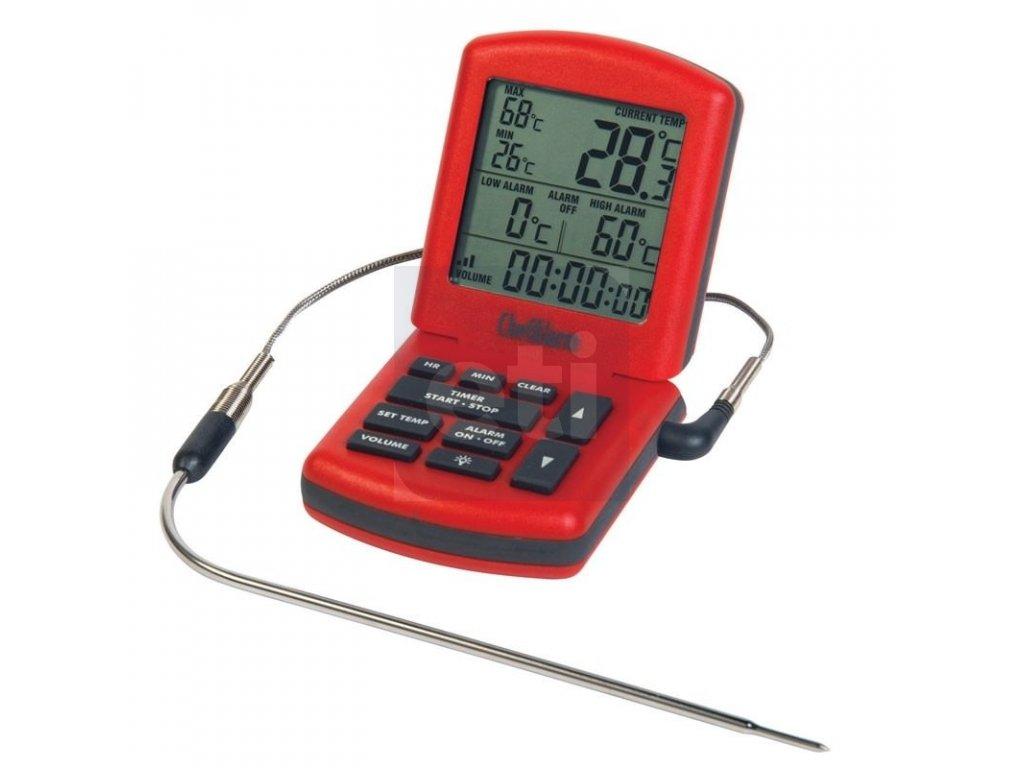 ChefAlarm termosonda a minutka, červený