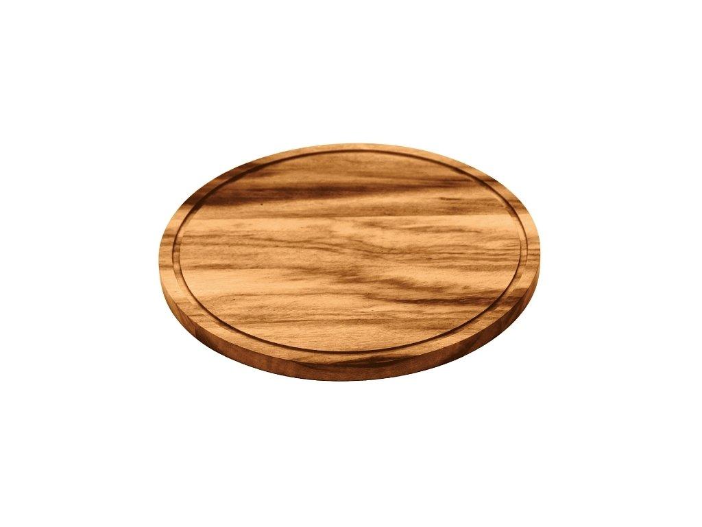 Dřevěné prkénko Tramontina - kulaté, 26cm