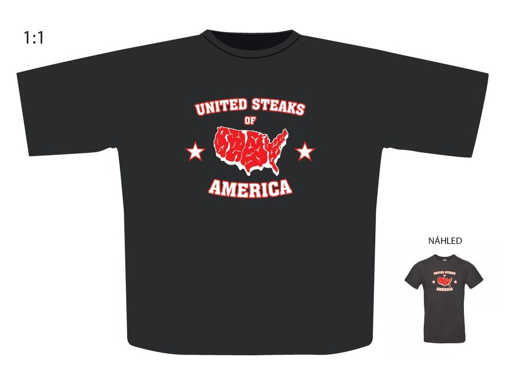 "Triko s motivem ""United Steaks of America"""