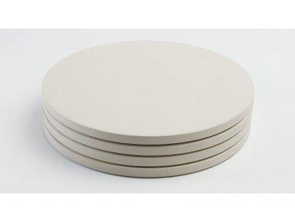 Sada 4 ks kruhových keramických mini pizza kamenů 20 cm