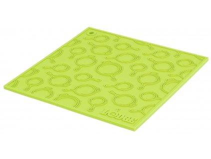 Zelená silikonová podložka s reliéfem pod litinový hrnec/pánev Lodge