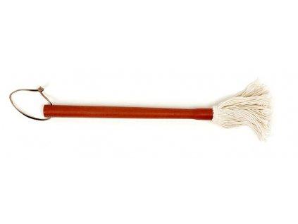 Bavlněný mop s dřevěnou rukojetí