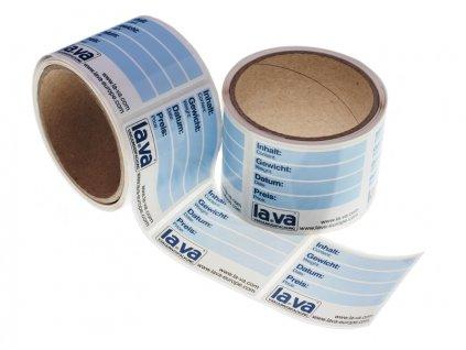 Lava samolepicí etikety na vakuovací sáčky, 100ks
