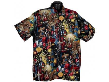 Košile Dia de los Muertos XL