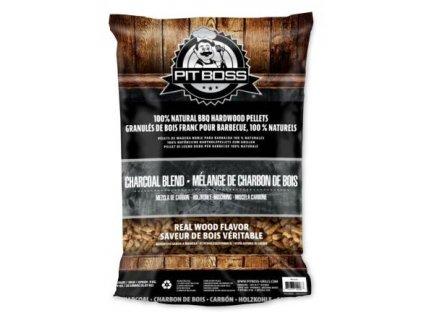 Dřevěné pelety Pit Boss Charcoal Blend, 9 kg