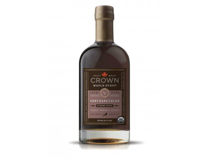 Javorový sirup Crown Maple Very Dark Color, 250 ml