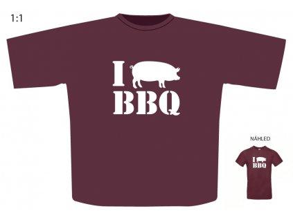 """Triko s motivem """"I PIG BBQ"""""""