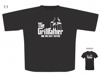 "Triko s motivem ""The Grillfather"""