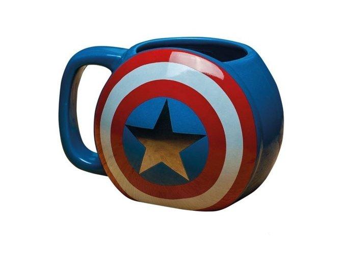 Hrnek Captain America - 3D štít