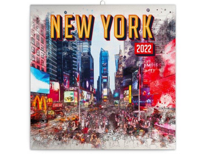 poznamkovy kalendar new york 2022 30 30 cm 600828 31