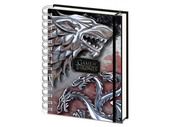 Kroužkový blok A5 Hra o trůny - Stark & Targaryen