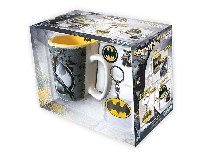 Dárkový set Batman - Hrnek, klíčenka, placky