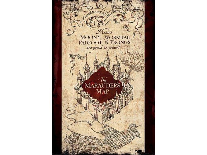 Plakát Harry Potter - Pobertův plánek