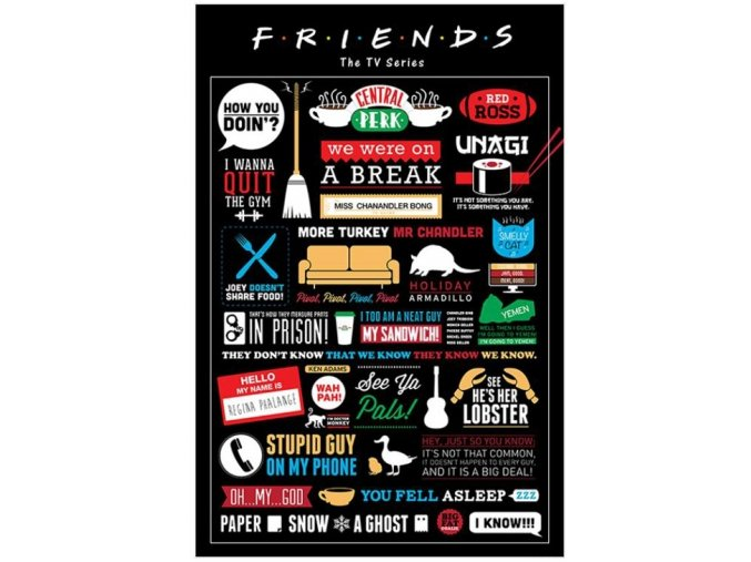 plakát friends přátelé infographic