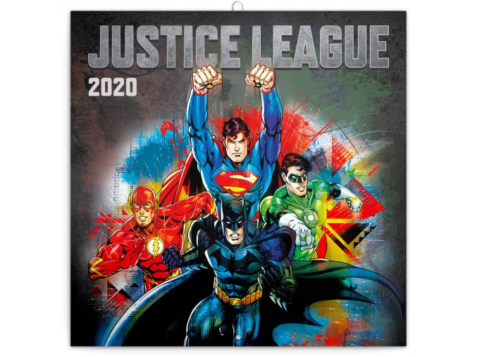 poznamkovy kalendar justice league 2020 30 x 30 cm 875721 7