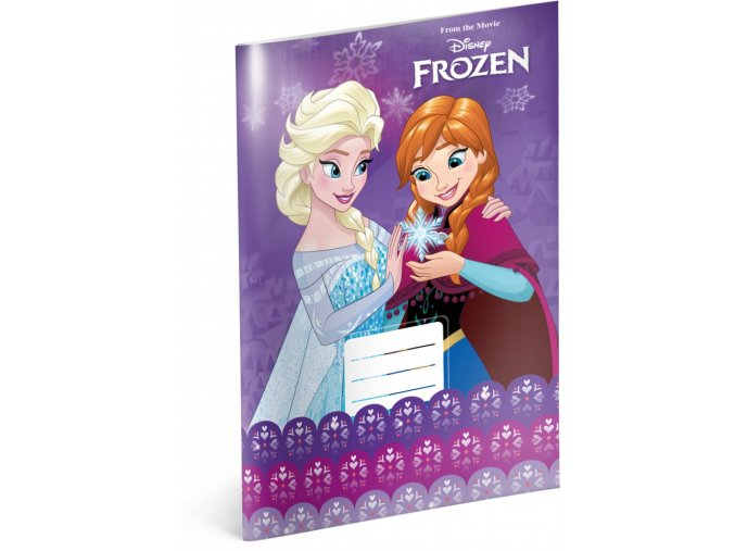 skolni sesit frozen ledove kralovstvi violet a4 20 listu linkovany 1 0