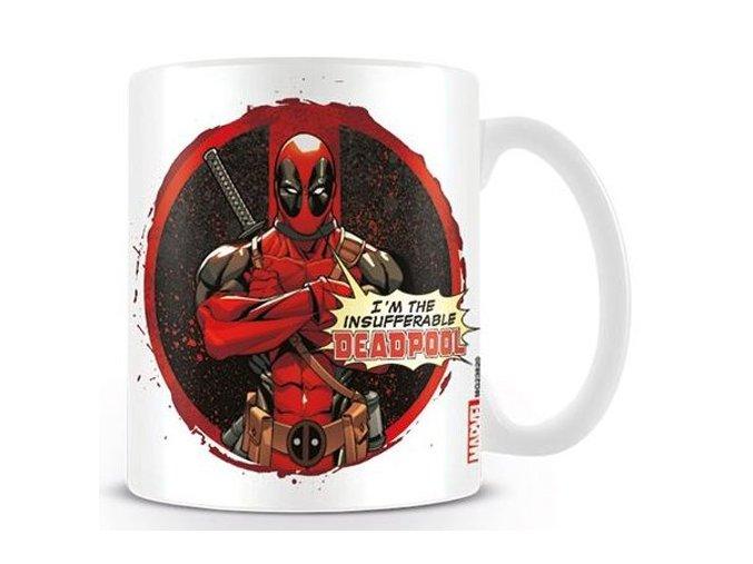 Hrnek Deadpool - Insufferable, objem 315 ml, bílý