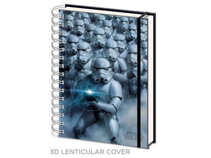 3D blok A5 Star Wars - Stormtrooper, kroužková vazba