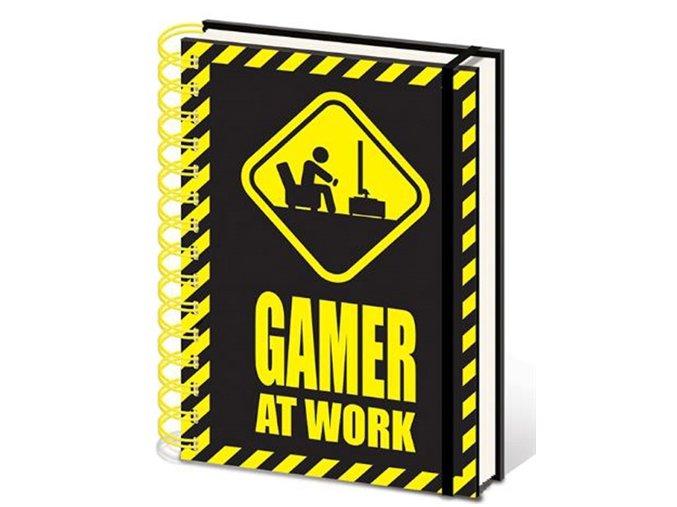 Spirálový blok A5 - Gamer at Work