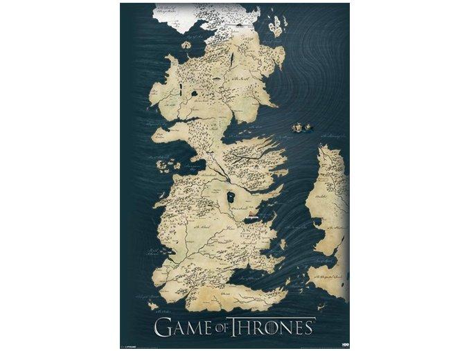 Plakát Hra o trůny - Mapa Západozemí