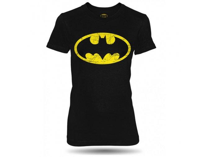 triko batman distressed damske
