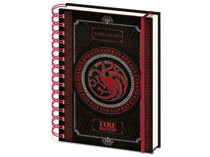 Kroužkový blok A5 Hra o trůny - Targaryen