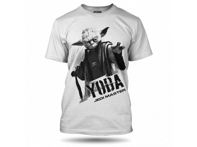 Pánské tričko - Yoda bílé