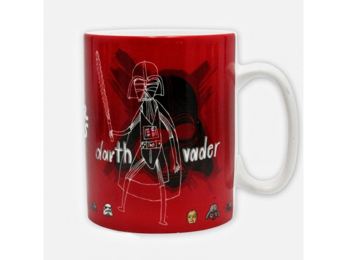 star wars mug 460 ml sketchbook with box x2