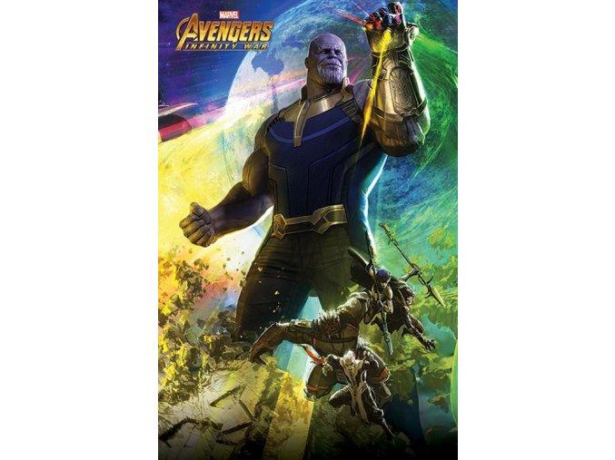 plakát avengers infinity war Thanos