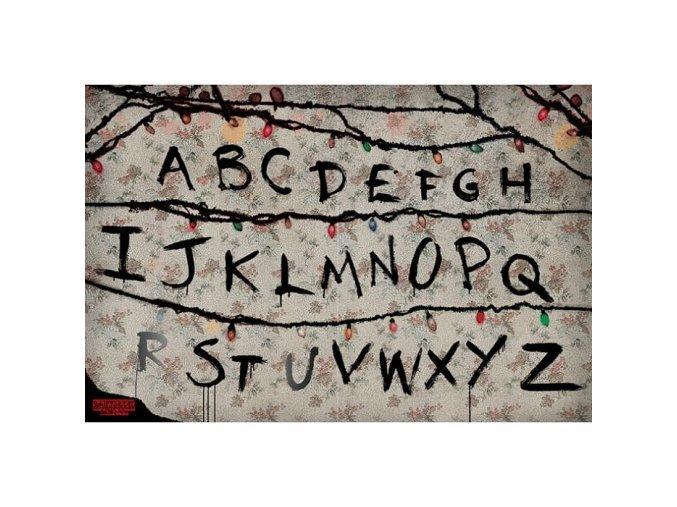stranger things plakat r u n svetelna abeceda