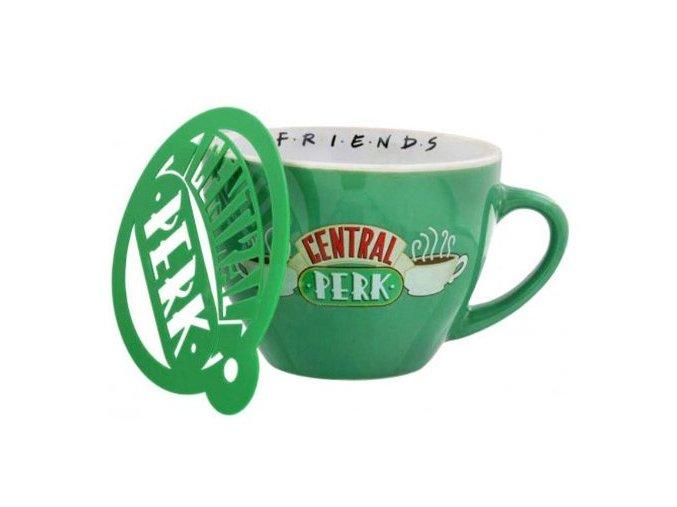 friends cappuccino hrnek zeleny
