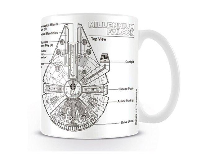Hrnek Star Wars - Millennium Falcon Sketch, 315 ml