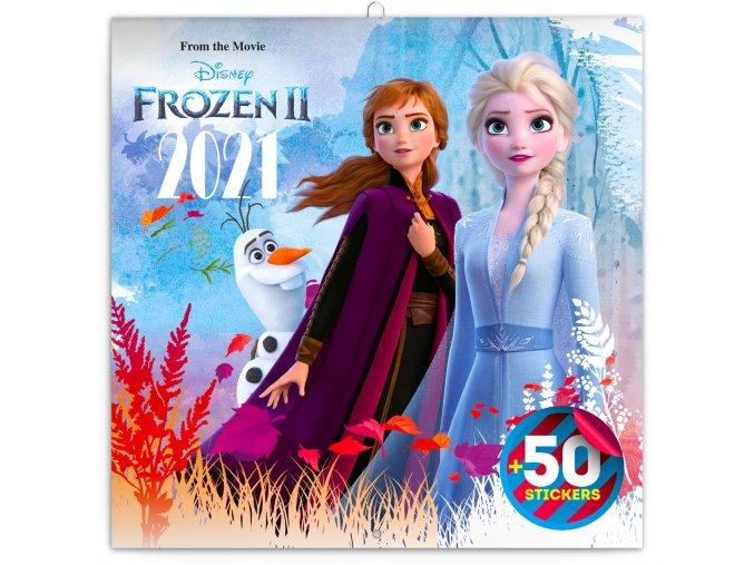poznamkovy kalendar frozen ledove kralovstvi ii 2021 s 50 samolepkami 30 x 30 cm 408562 17